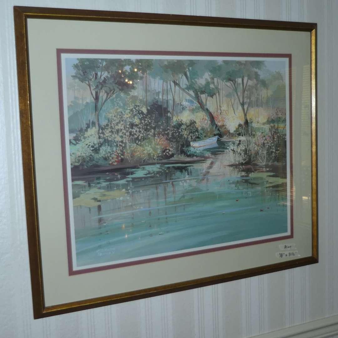 "Lot # 171 - Large Framed Jacqueline Penney Print ""High Water"" (main image)"
