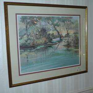 "Lot # 171 - Large Framed Jacqueline Penney Print ""High Water"""