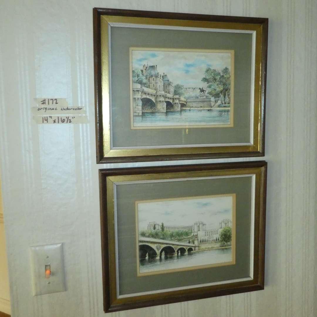 Lot # 172 - Two Framed Original Watercolors  (main image)