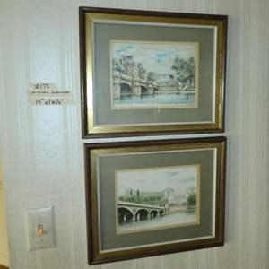 Lot # 172 - Two Framed Original Watercolors
