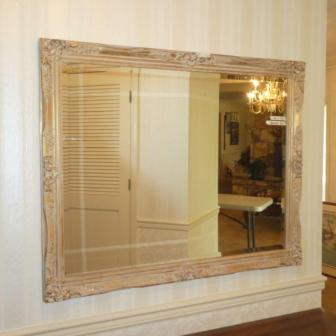 Lot # 178 - Beautiful Large Beveled Mirror w/ Ornate Frame (main image)