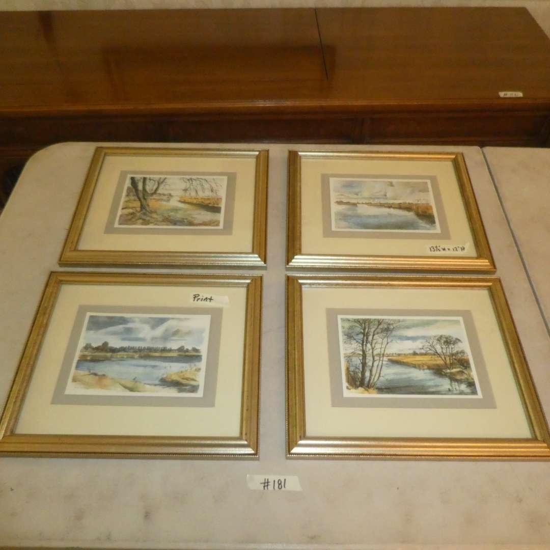 Lot # 181 - Four Decorative Framed Landscape Prints  (main image)
