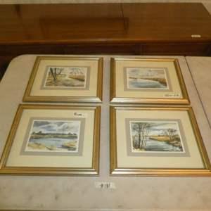 Lot # 181 - Four Decorative Framed Landscape Prints