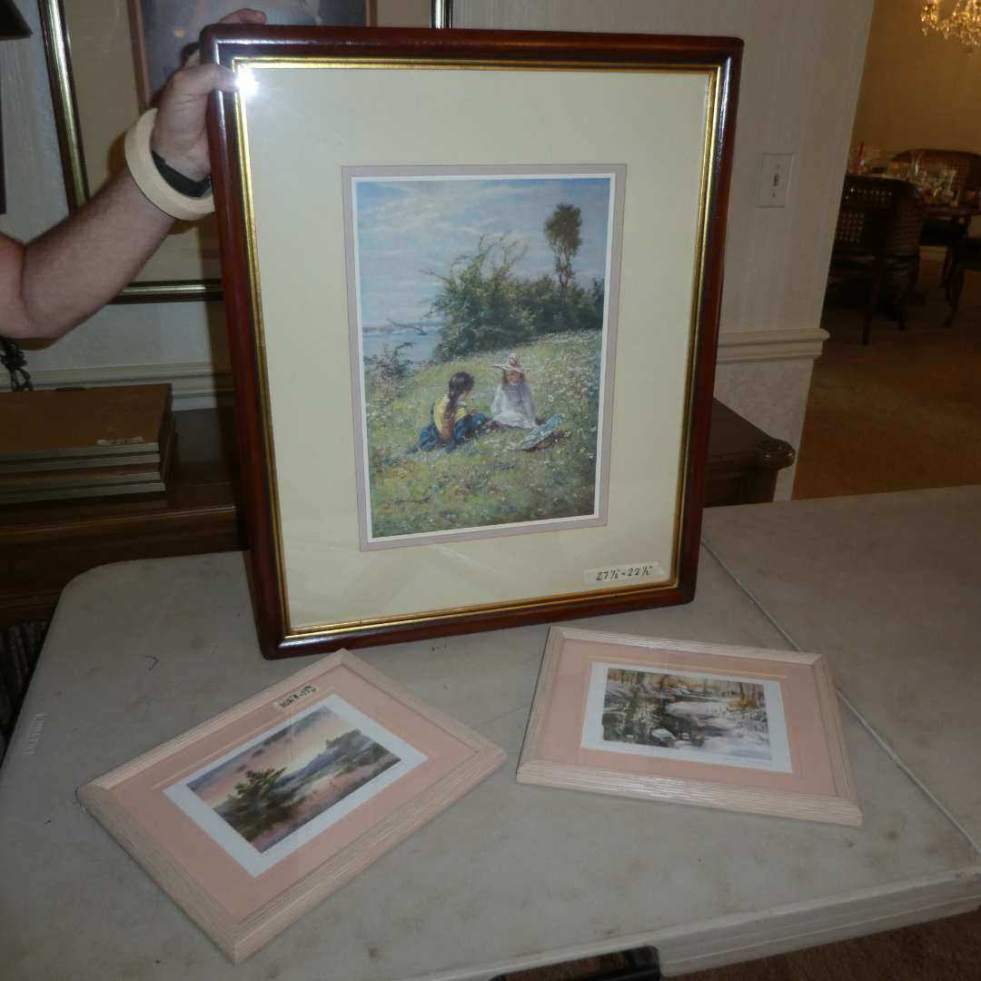 """Lot # 183 - Two Framed Brent Heighton Prints & Framed """"In a Field"""" Print (main image)"""