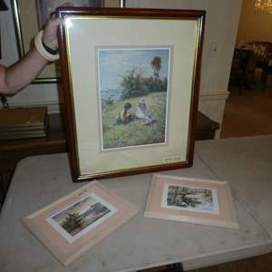 """Lot # 183 - Two Framed Brent Heighton Prints & Framed """"In a Field"""" Print"""