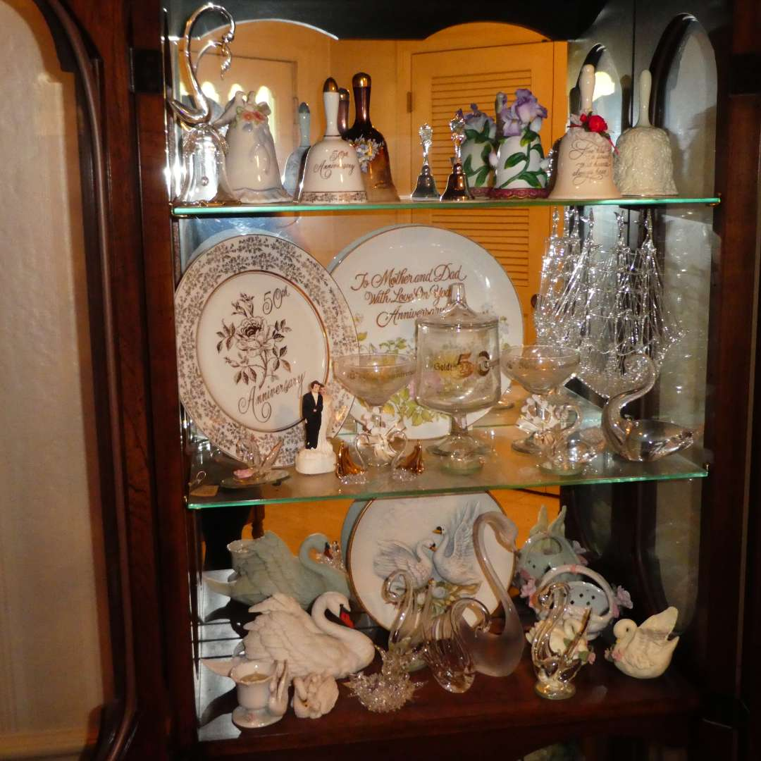 Lot # 190 - Collectible Glass Swans, Bells, Plates and More! (main image)