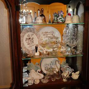 Lot # 190 - Collectible Glass Swans, Bells, Plates and More!