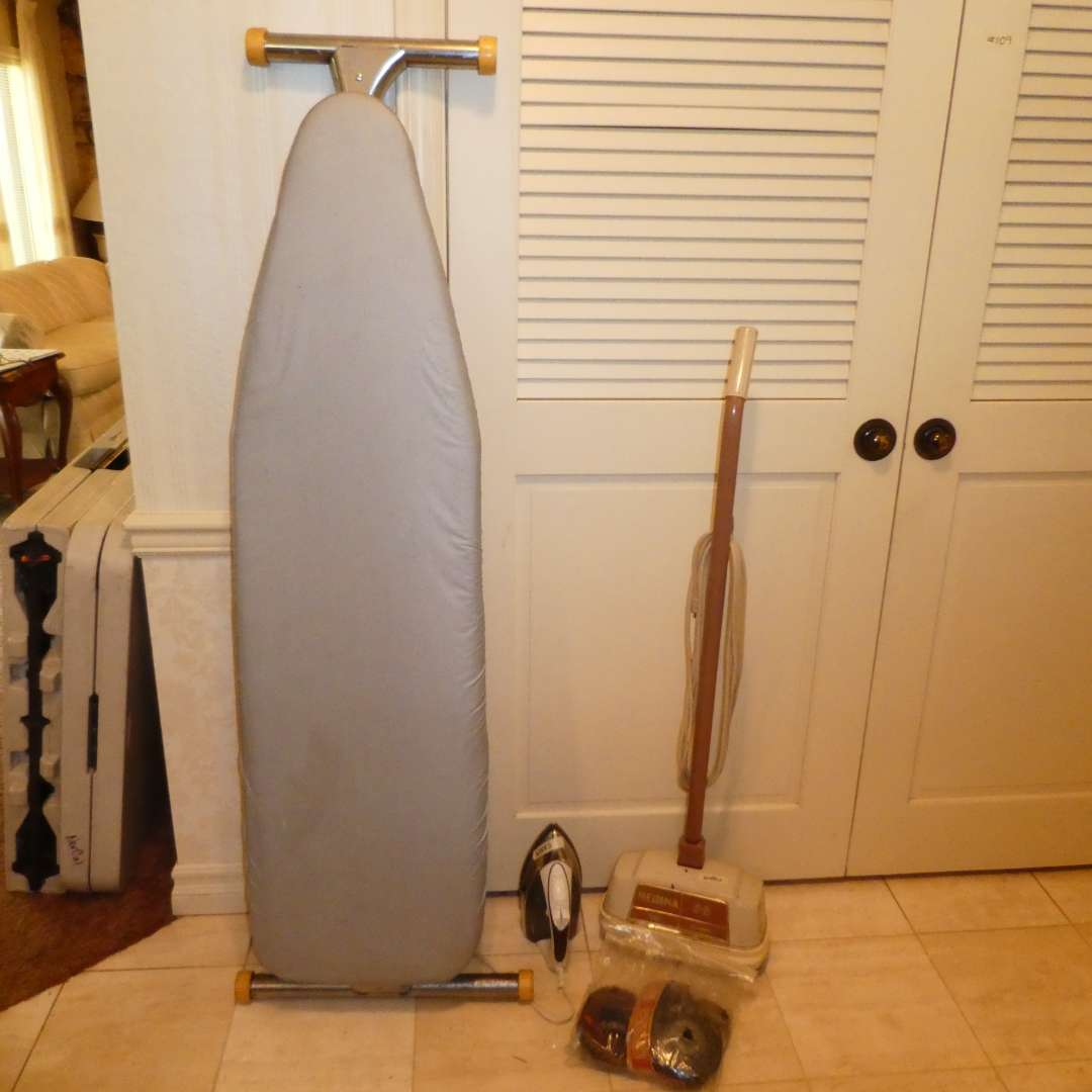 Lot # 110 - Vintage Regina Buffer, Ironing Board & Sunbeam Iron (main image)