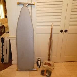 Lot # 110 - Vintage Regina Buffer, Ironing Board & Sunbeam Iron