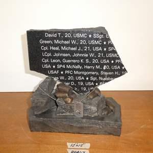 Lot # 101 - California Vietnam Veterans Memorial 20th Anniversary Granite Stone Sculpture - Dec. 13, 2008 Sacramento Ca.