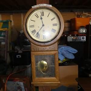 Lot # 108 - San Francisco Clock Co. Pendulum Wall Clock w/Key - Runs