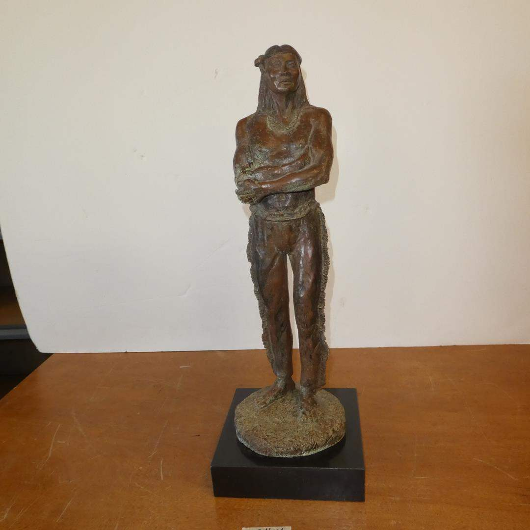 "Lot # 117 - huKAH ""I Am Not Afraid"" Bronze Resin by Gloria Bradley 4/64 (main image)"