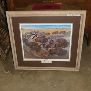 """Lot # 127 - Framed Signed Numbered Limited Edition Print """"The Way It Was"""" by Lloyd Hovland 249/350"""