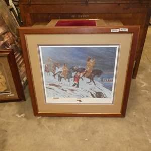 """Lot # 128 - Framed Signed Print """"Captured"""" by Lloyd Hovland"""