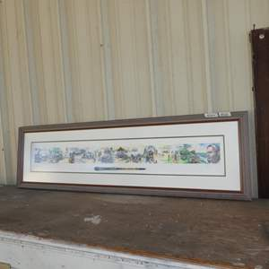 Lot # 131 - Framed Signed Numbered Combined Artist's Print w/Applied Paintbrush