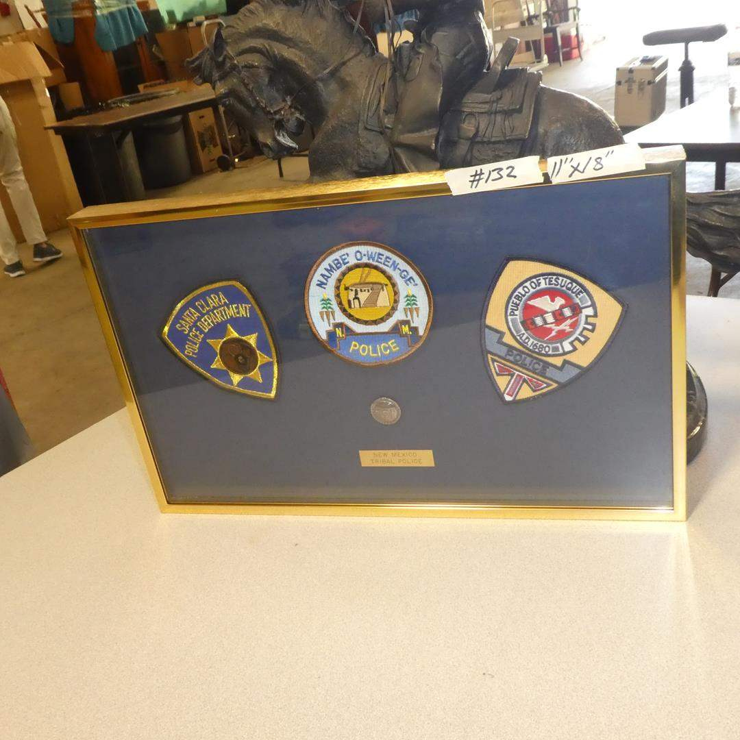 Lot # 132 - Framed New Mexico Tribal Police Patches (main image)
