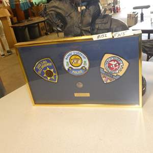 Lot # 132 - Framed New Mexico Tribal Police Patches