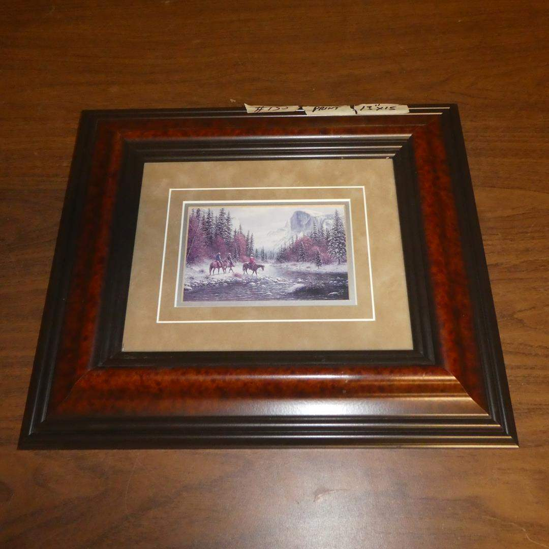 Lot # 135 - Small Framed Western Print by Jack Terry (main image)