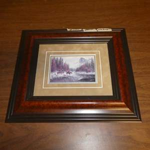 Lot # 135 - Small Framed Western Print by Jack Terry