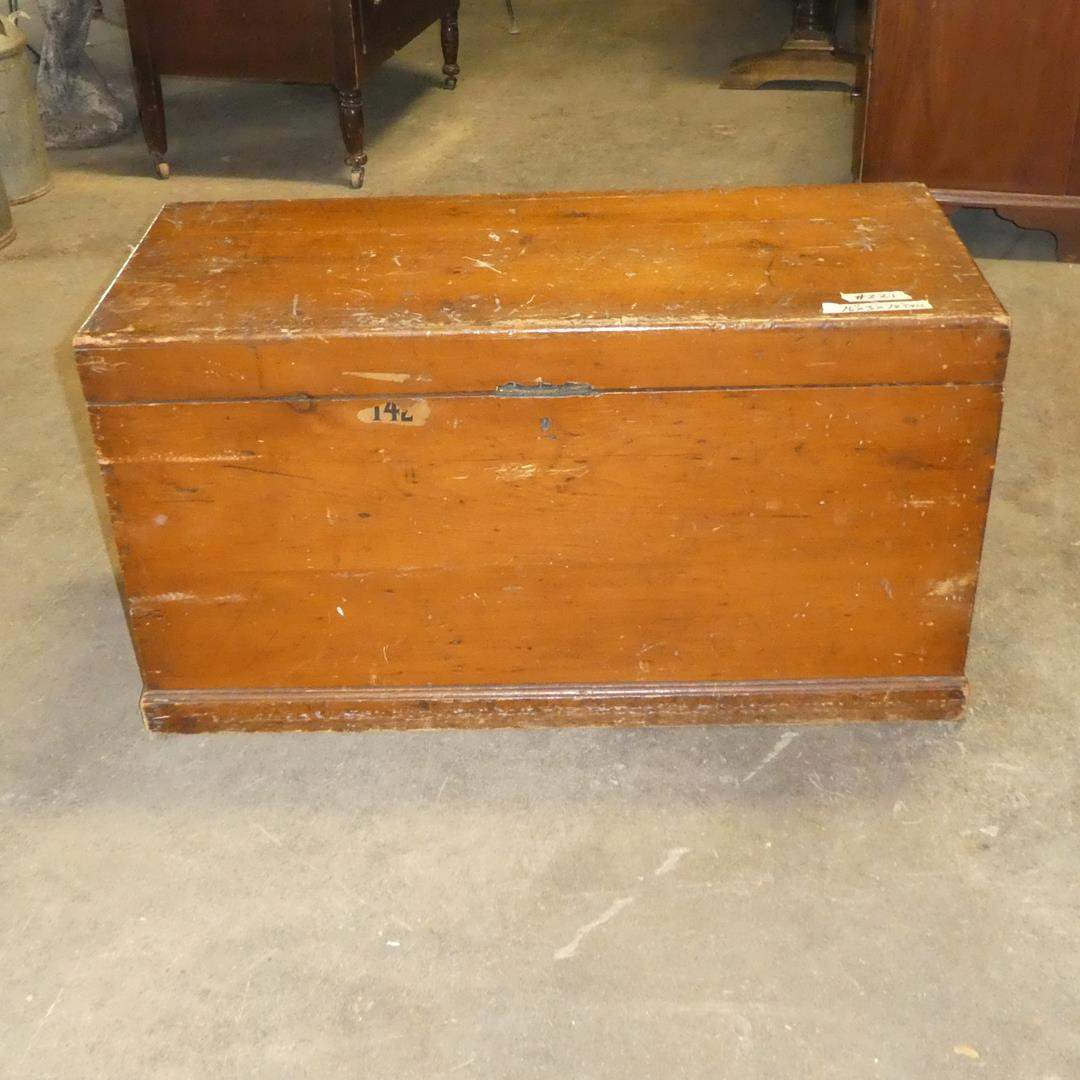 Lot # 221 - Old Wooden Trunk (main image)