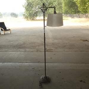 Lot # 223 - Antique Ornate Metal Floor Lamp - Works