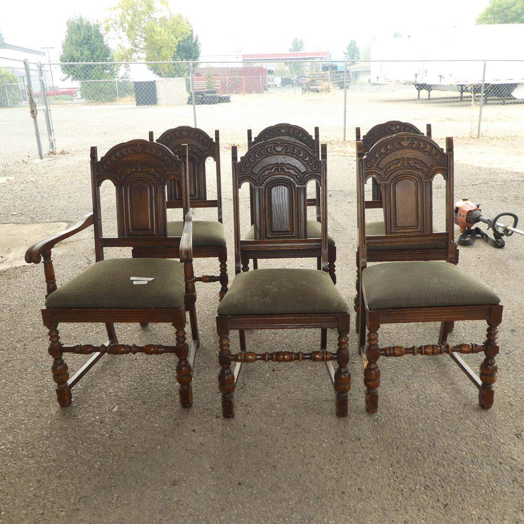 Lot # 226 - Six Vintage Dining Chairs (main image)