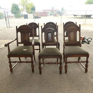 Lot # 226 - Six Vintage Dining Chairs