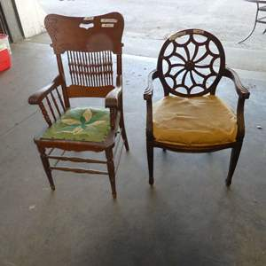 Lot # 2 - Two Wood Chairs