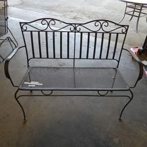 Lot # 4 - Metal Outdoor Bench