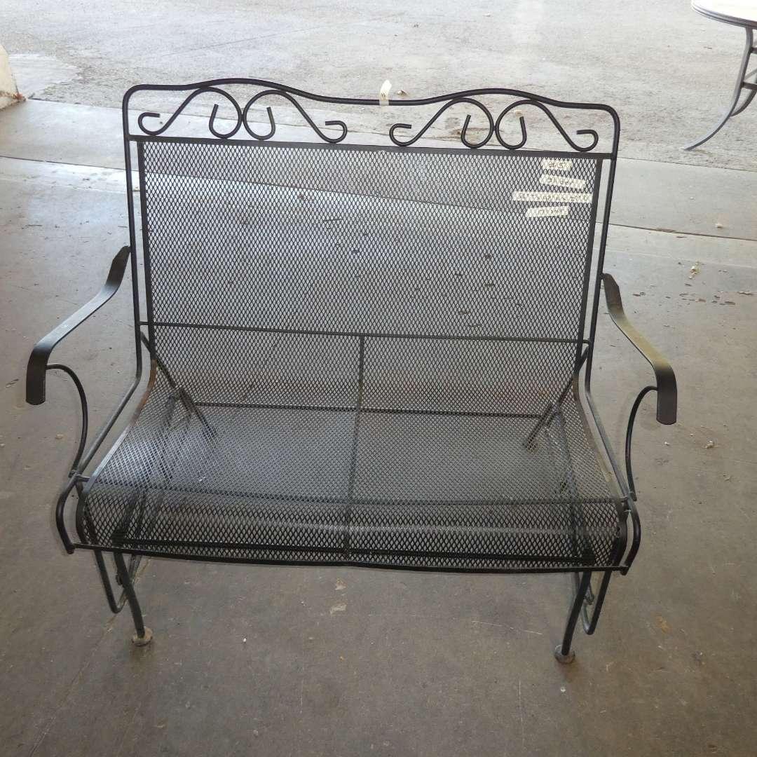 Lot # 5 -Metal Outdoor Bench Slider (main image)
