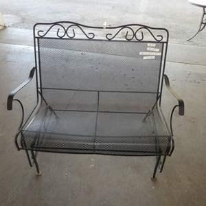 Lot # 5 -Metal Outdoor Bench Slider