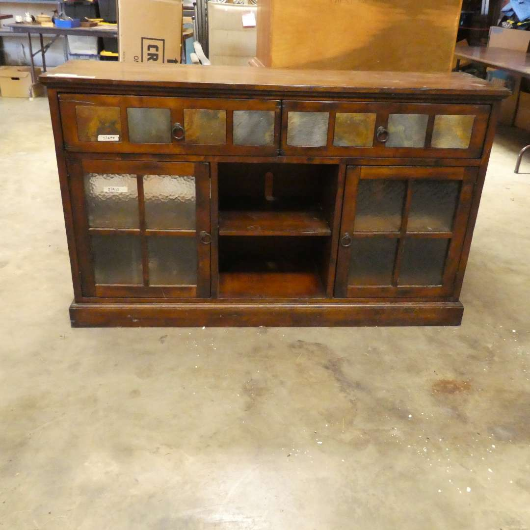 Lot # 10 - Media Center With Slate Tile Accents (main image)