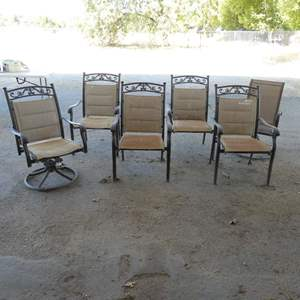 Lot # 16 - Five Outdoor Chairs Includes A Rocker Chair