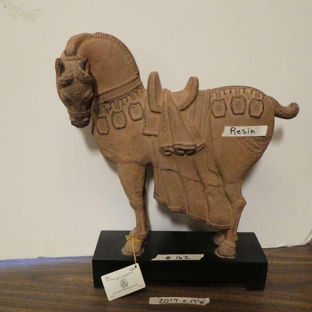 Lot # 162 - Trojan Horse Statue (main image)