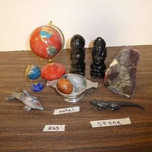 Lot # 163 - Stone Figurines