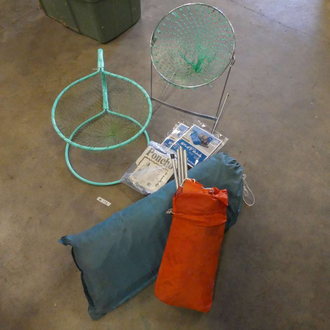 Lot # 172 - Tents, Ponchos, And Two Nets for Ball Games (main image)