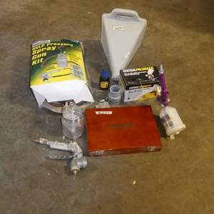 Lot # 265 -Wood Working Tools And Spray Guns