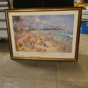 Lot # 266 - Large Framed Print by Paul McGEHEE