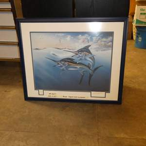 Lot # 267 - Large Signed & Numbered Print Of Sword Fish
