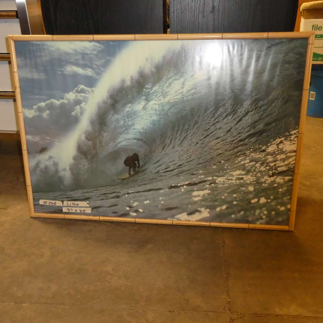 Lot # 268 - Large Picture Of Surfer (main image)