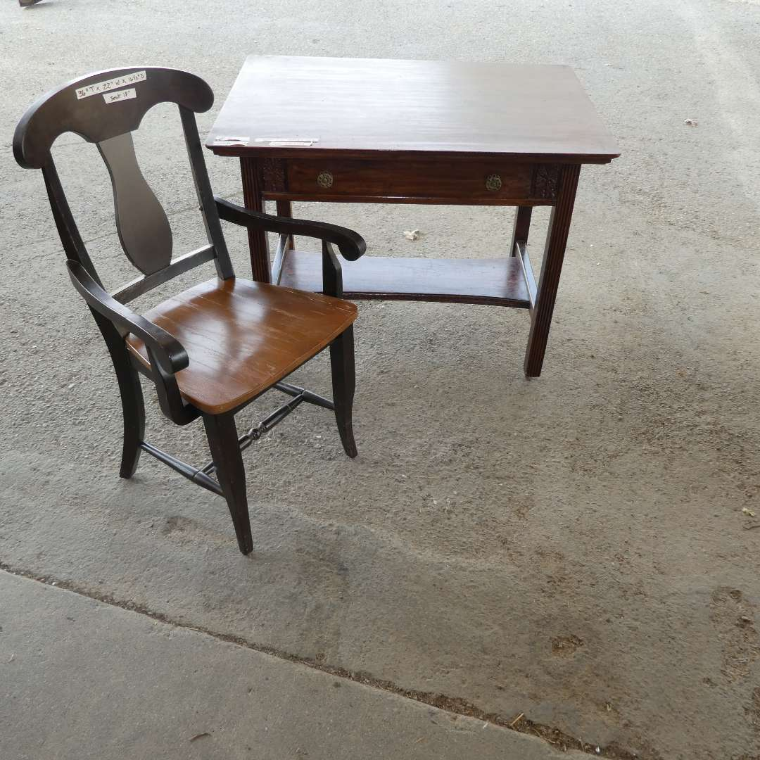 Lot # 271 - Antique Desk And Chair (main image)