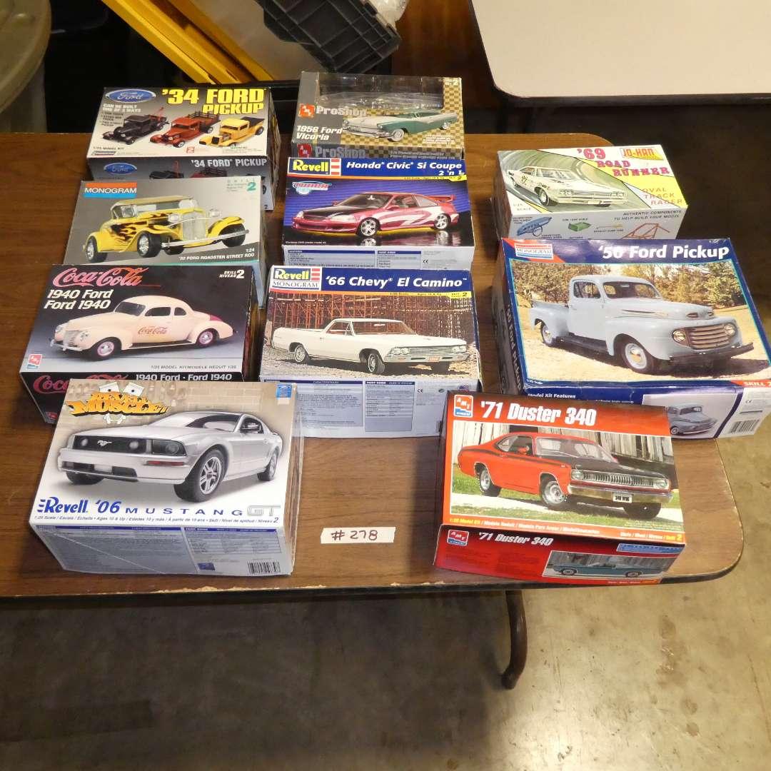 Lot # 278 - Model Car Kits (main image)