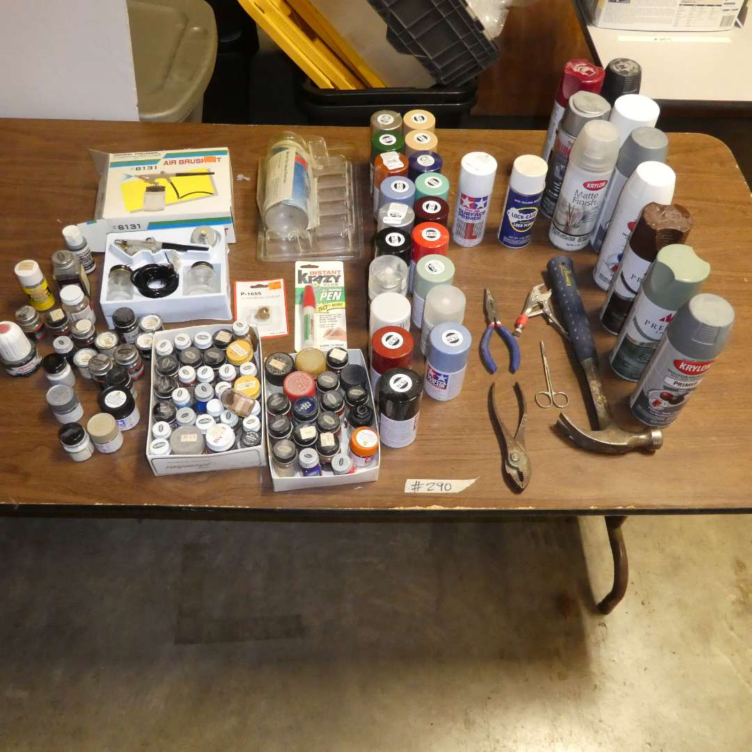 Lot # 290 - Various Types Of Paint And Tools (main image)