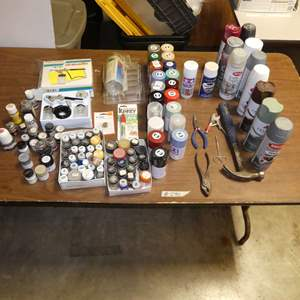 Lot # 290 - Various Types Of Paint And Tools