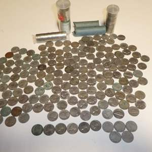 Lot # 307 - Unsearched Nickels, Buffalo Nickels & 5 V Nickels