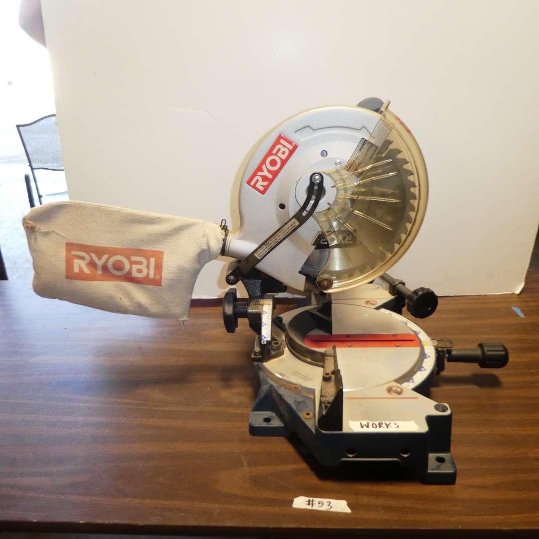 "Lot # 53 - Ryobi Miter Compound 10"" Saw (Model TS1340) (main image)"