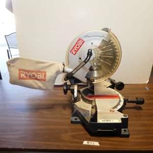 "Lot # 53 - Ryobi Miter Compound 10"" Saw (Model TS1340)"