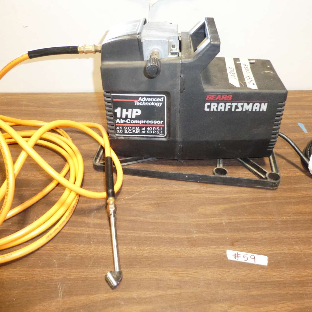 Lot # 59 - Craftsman Air Compressor (main image)
