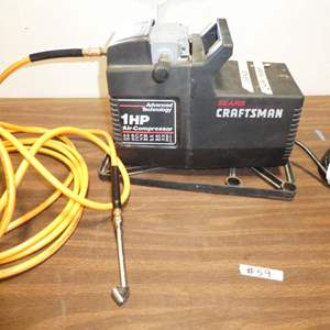 Auction Thumbnail for: Lot # 59 - Craftsman Air Compressor