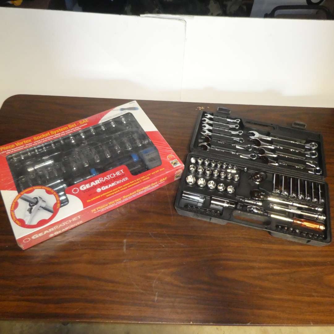 Lot # 151 - 72 pc Vortex Socket System (New) and Socket/ Wrench Set  (main image)